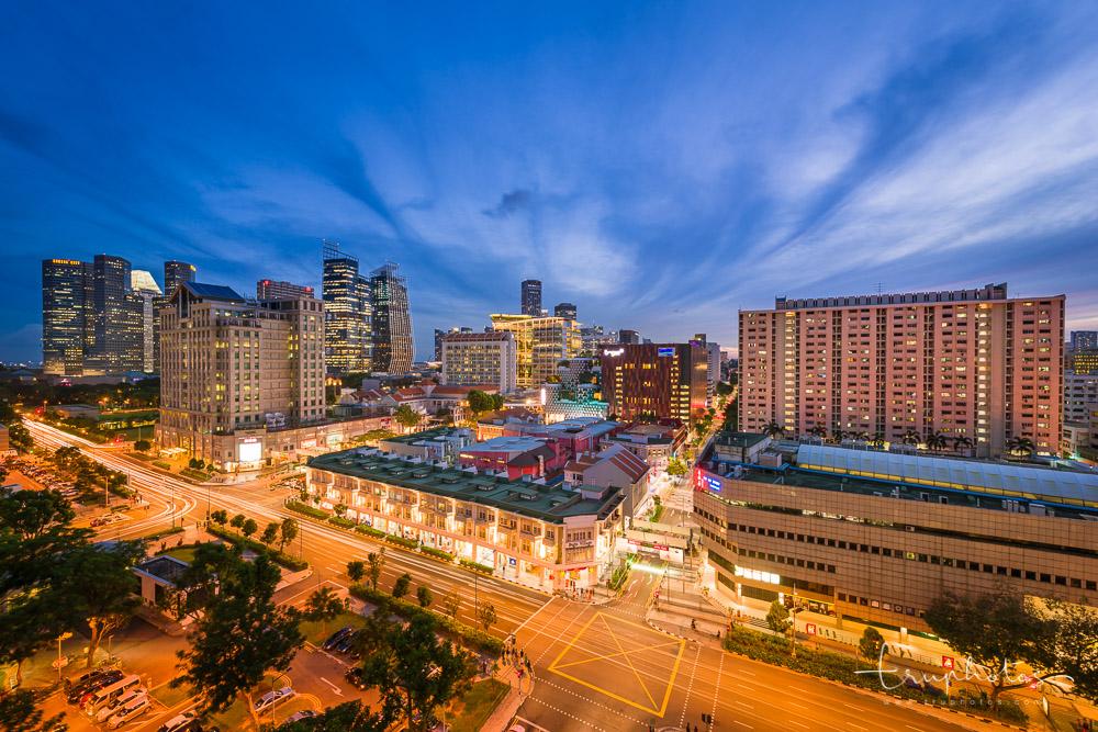 Blue hour at Bugis, Singapore   Travel photography by www.truphotos.com