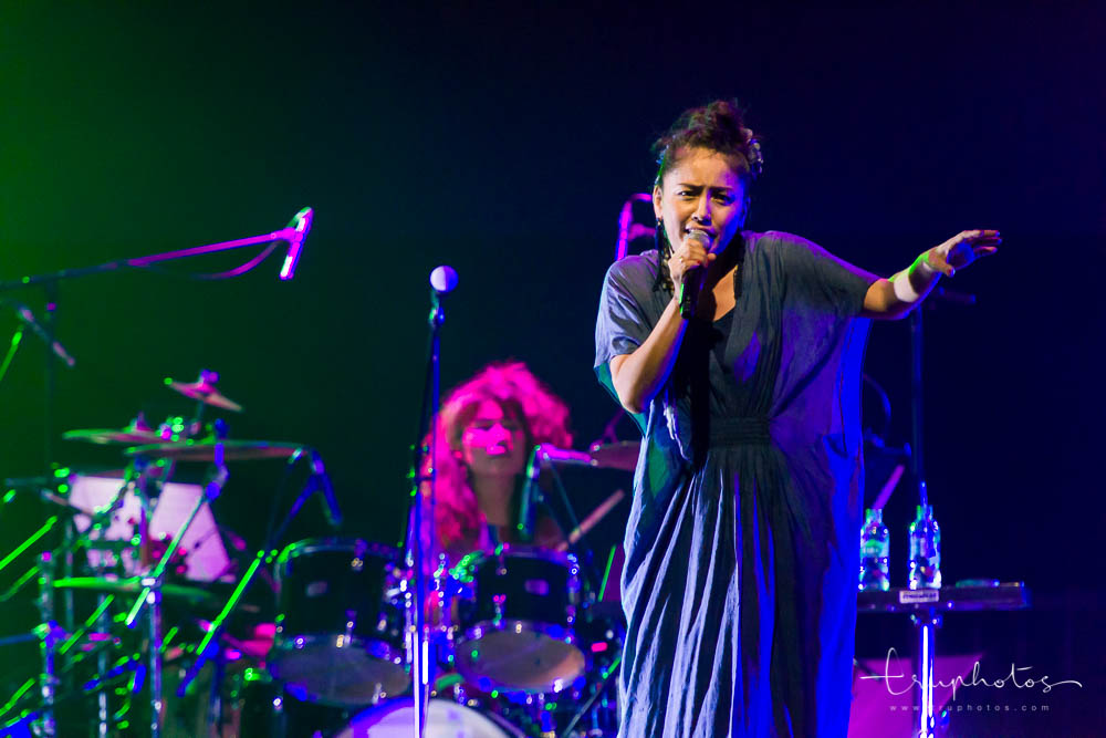Kagoshima singer Hajime Chitose performing at her first Singapore concert